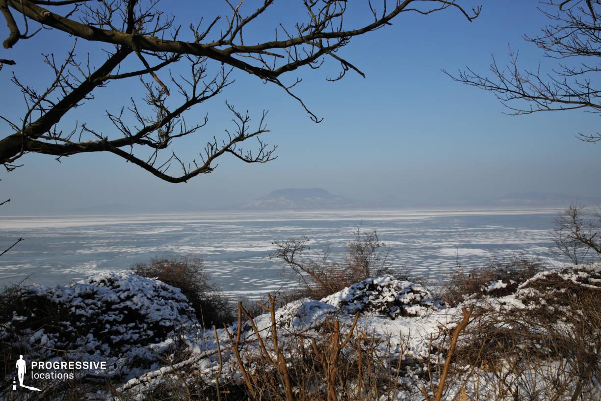 Locations in Hungary: Frozen Lake View, Balaton