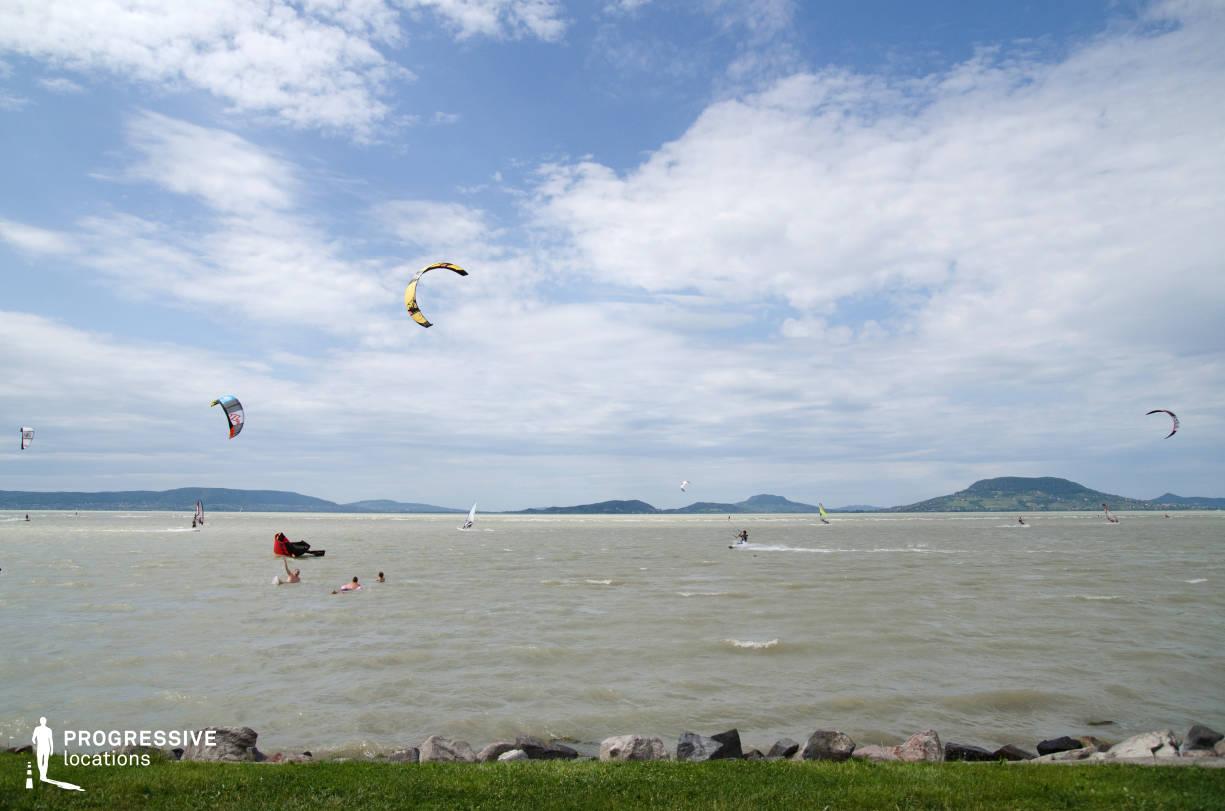 Locations in Hungary: Kitesurfing, Lake Balaton