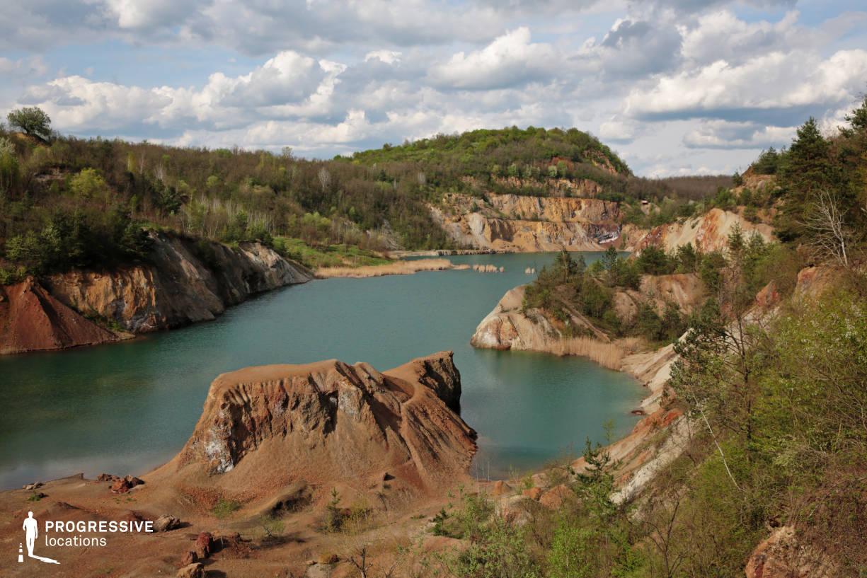 Locations in Hungary: Mine Lake, Rudabanya