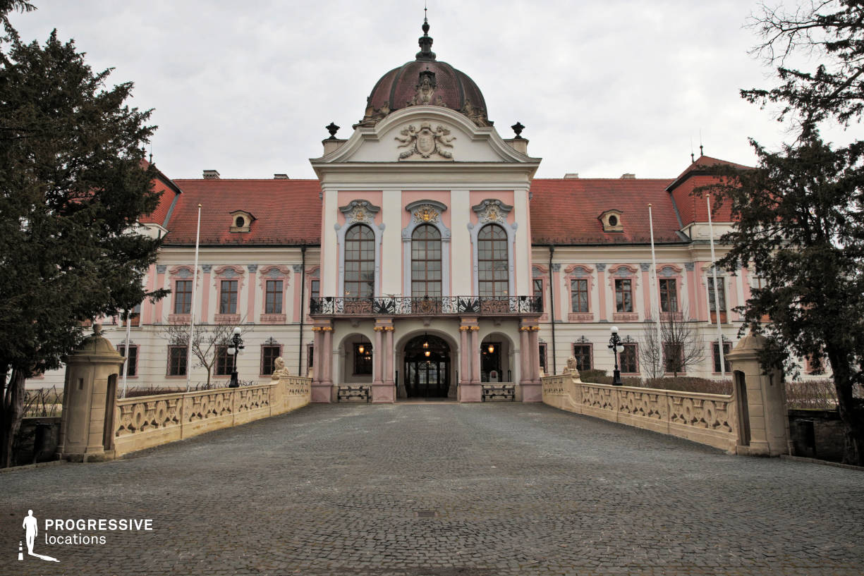 Locations in Hungary: Front Facade, Royal Palace, Godollo