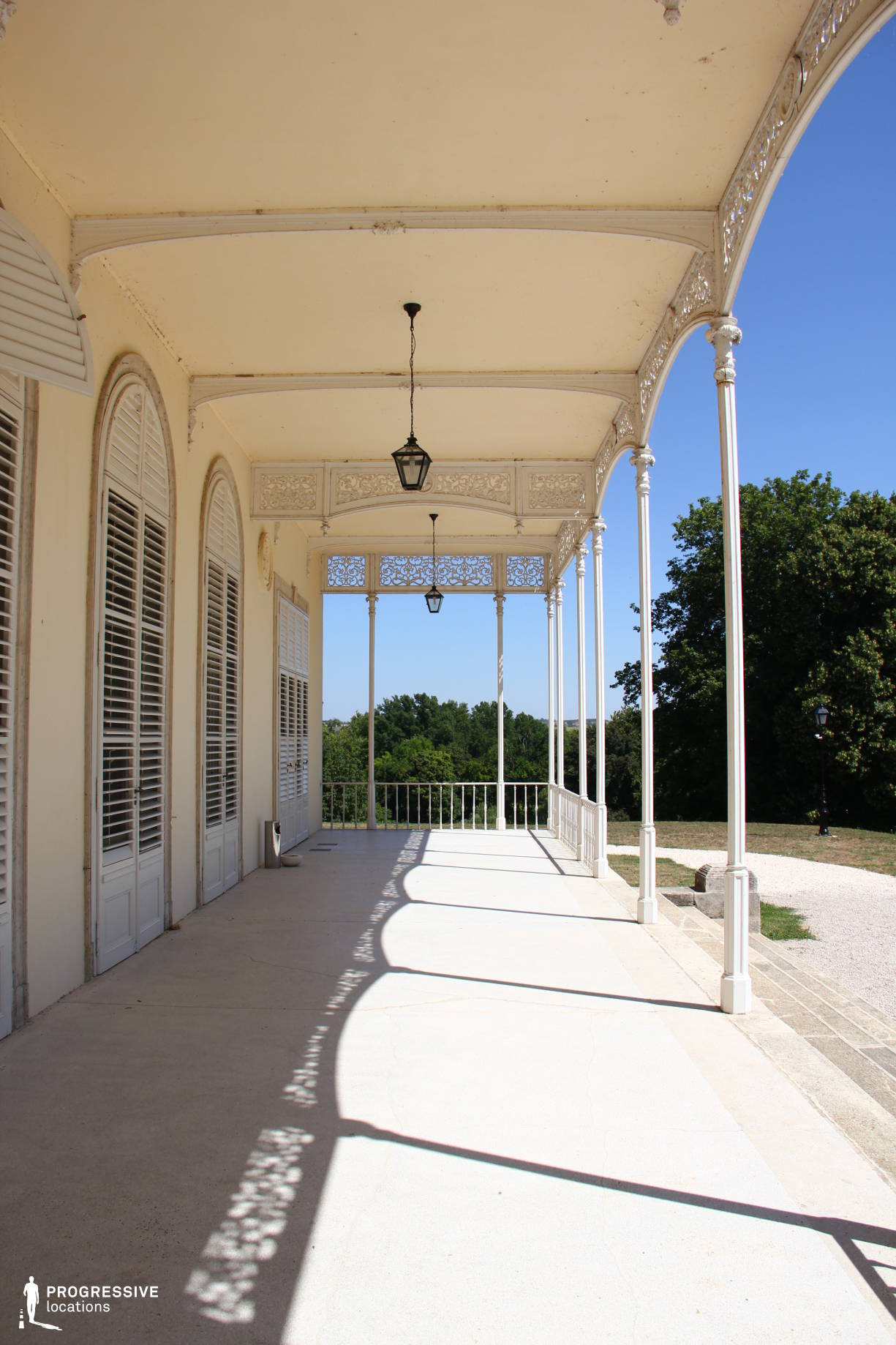 Locations in Hungary: Karolyi Mansion, Loggia