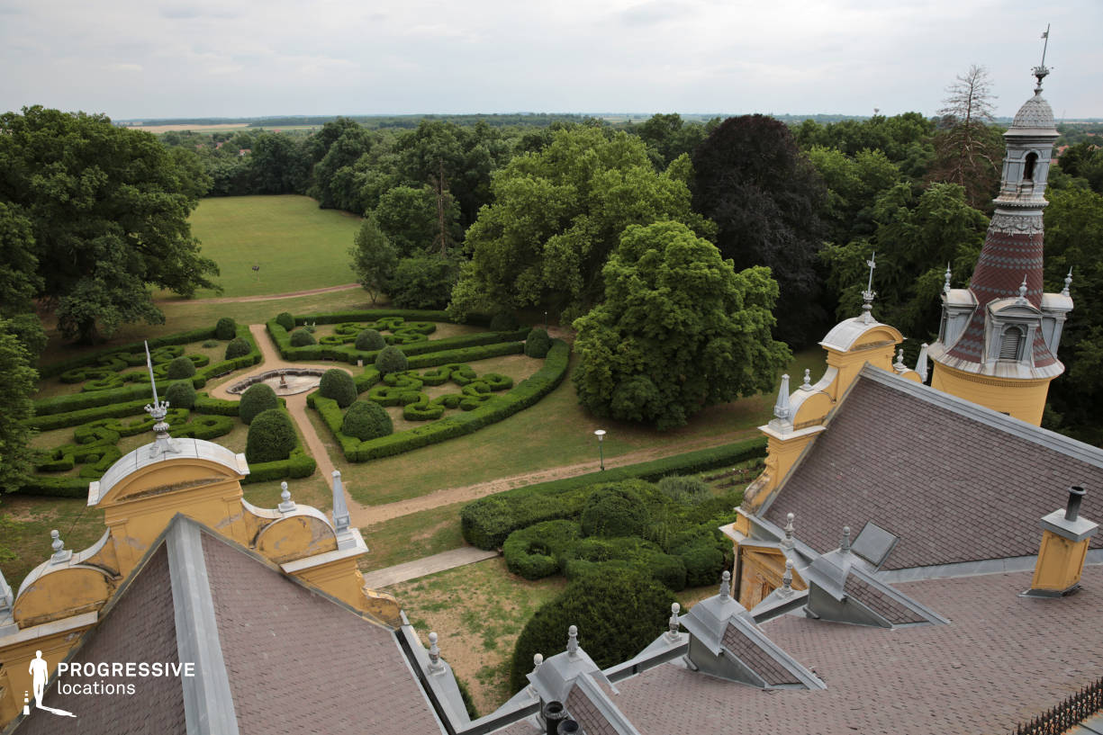 Locations in Hungary: Szabadkigyos, French Garden (Roof Tower View)