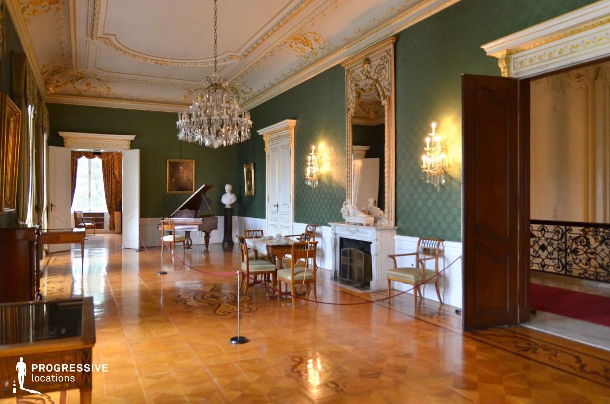 Locations in Hungary: Green Salon, Festetics Palace