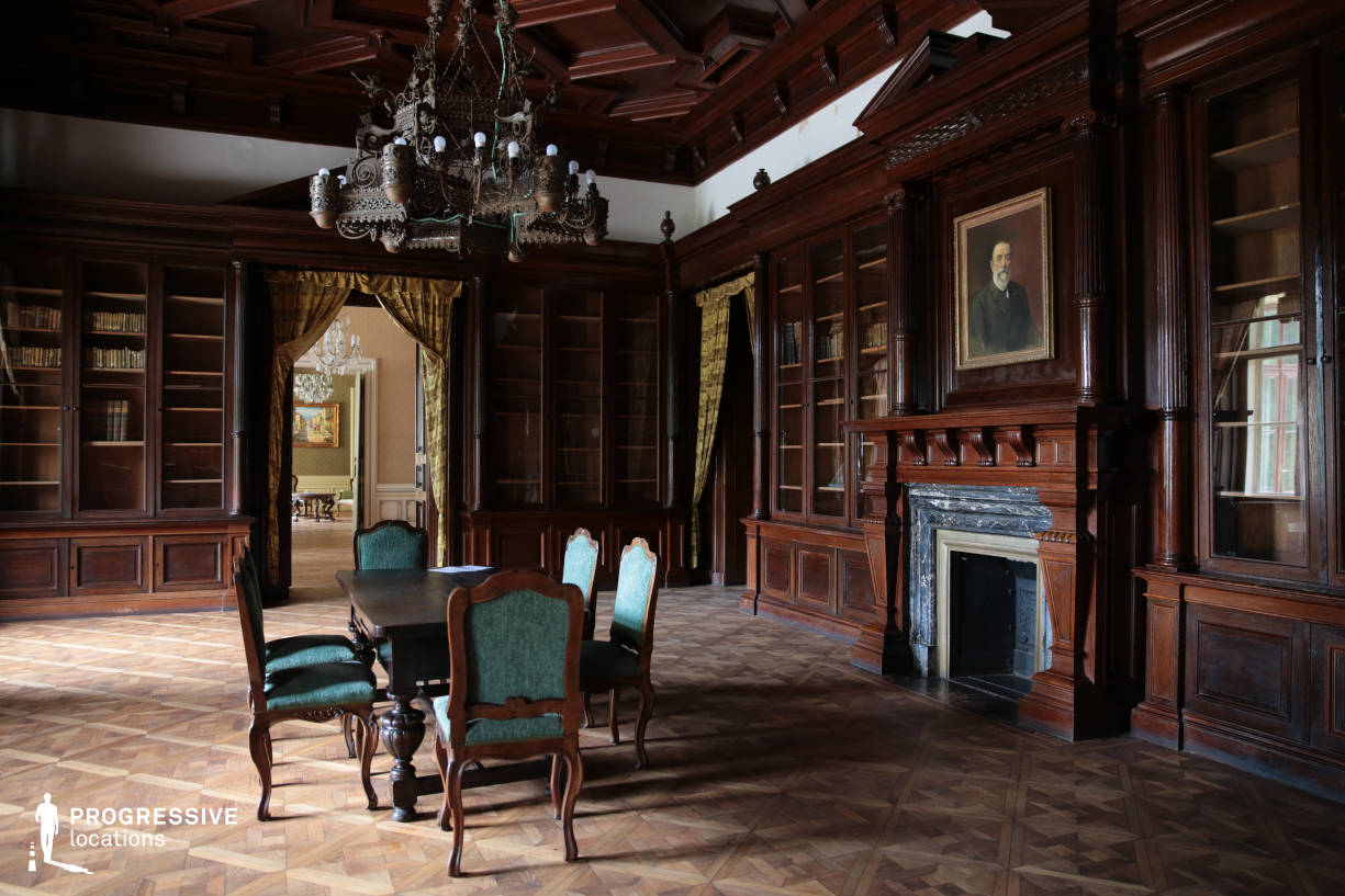 Locations in Hungary: Library %26 Salon %26 Chandelier, Wenckheim Palace