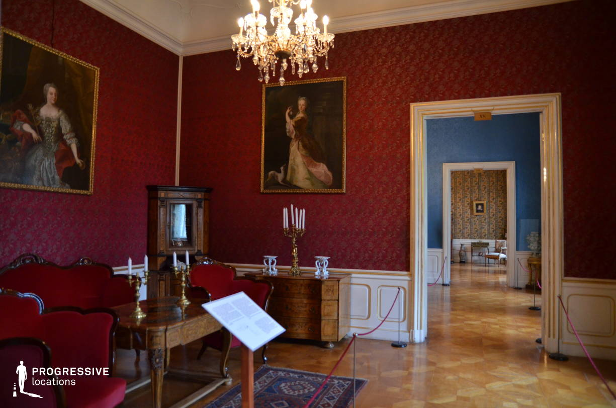 Locations in Hungary: Red Salon, Festetics Palace