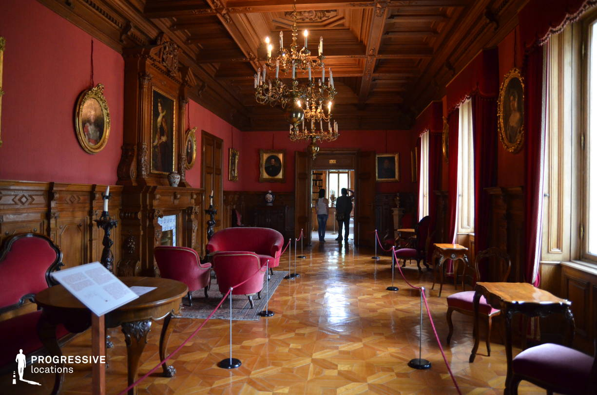 Locations in Hungary: Red Study Room, Festetics Palace