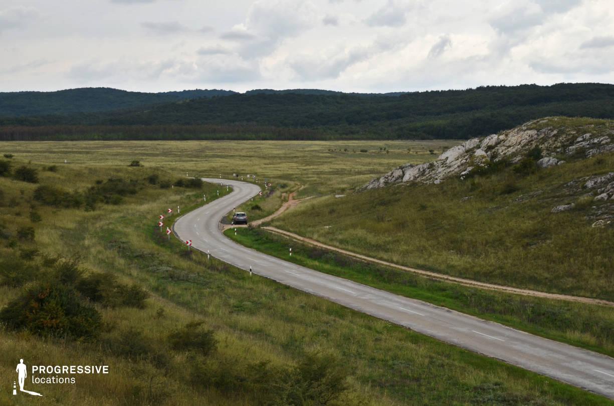 Locations in Hungary: Curvy Road, Csakbereny