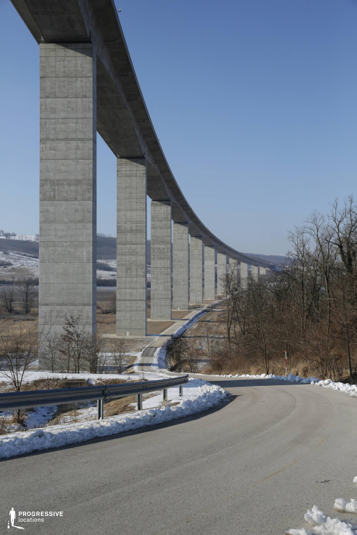Locations in Hungary: Road below Viaduct, Koroshegy