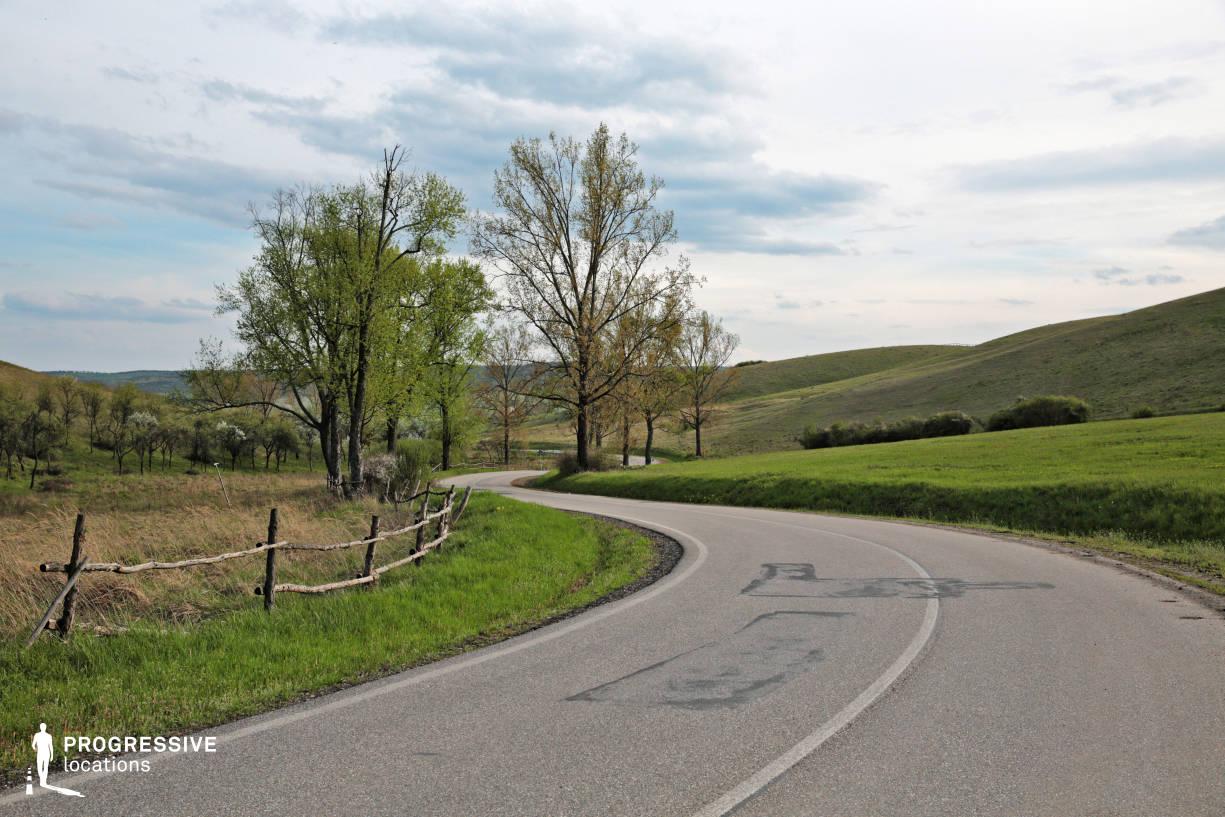 Locations in Hungary: Curvy Road, Zadorfalva