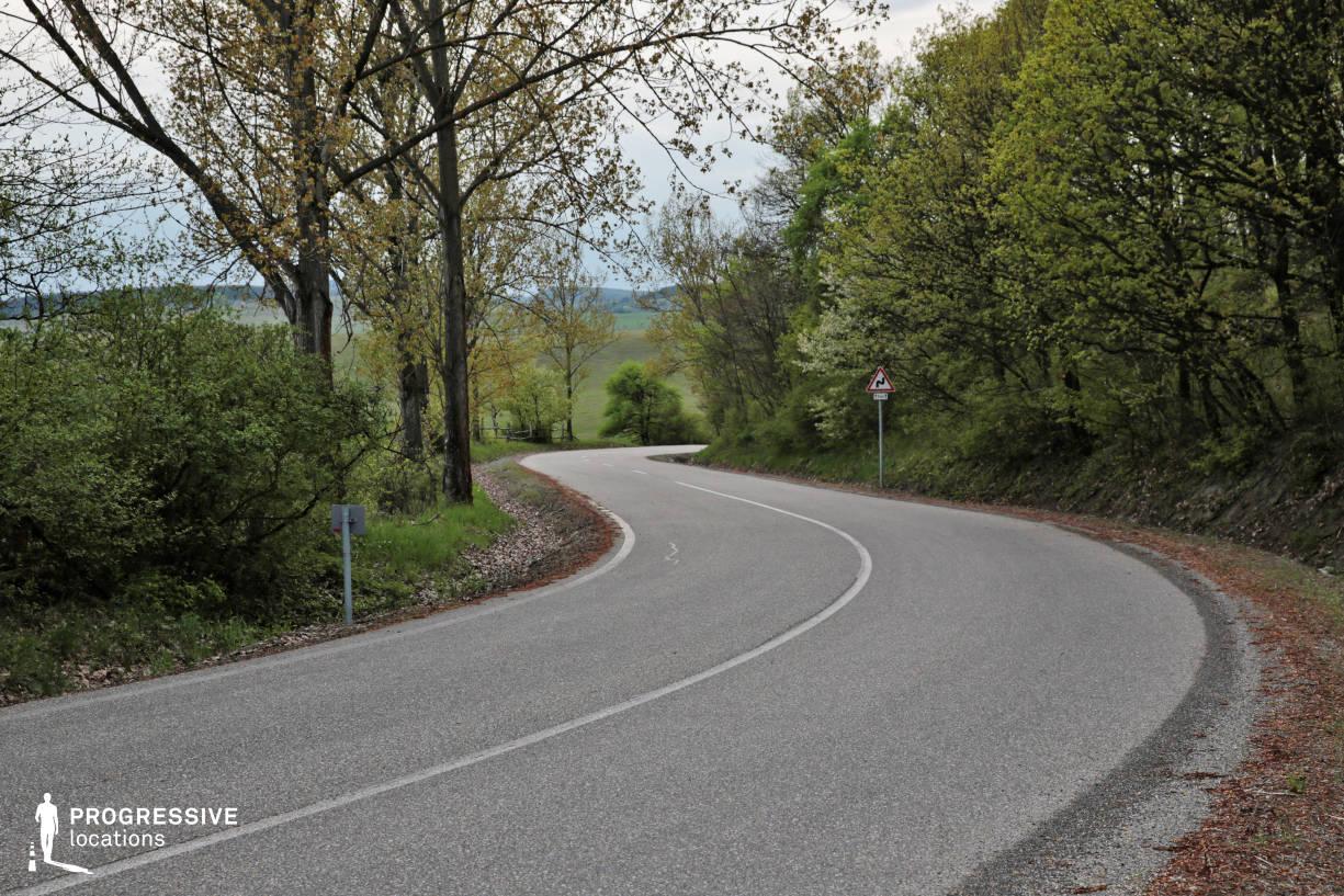 Locations in Hungary: Winding Road, Zadorfalva