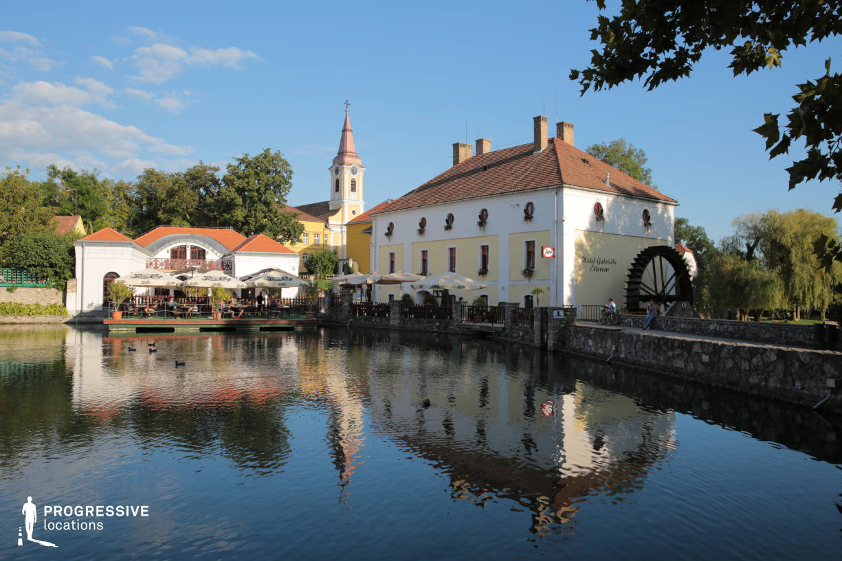 Locations in Hungary: Lake with Watermill, Tapolca