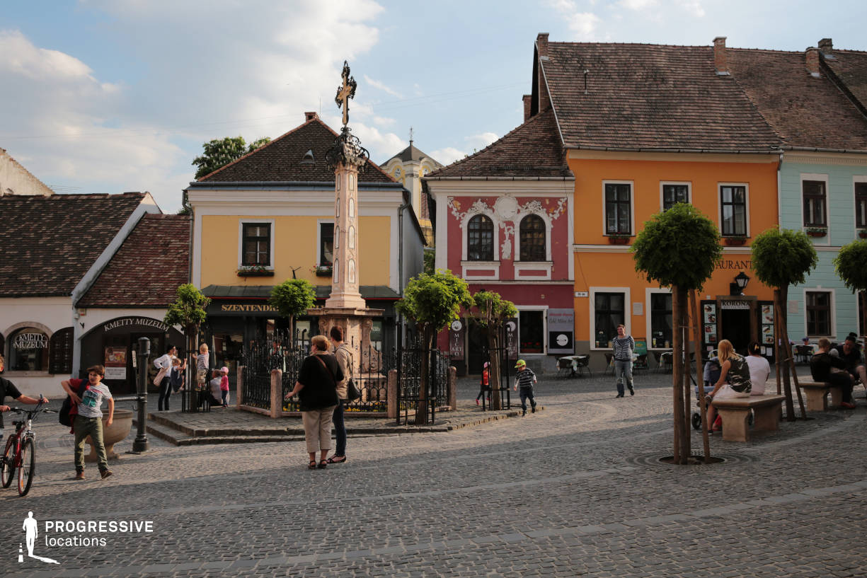 Locations in Hungary: Old Town Square, Szentendre