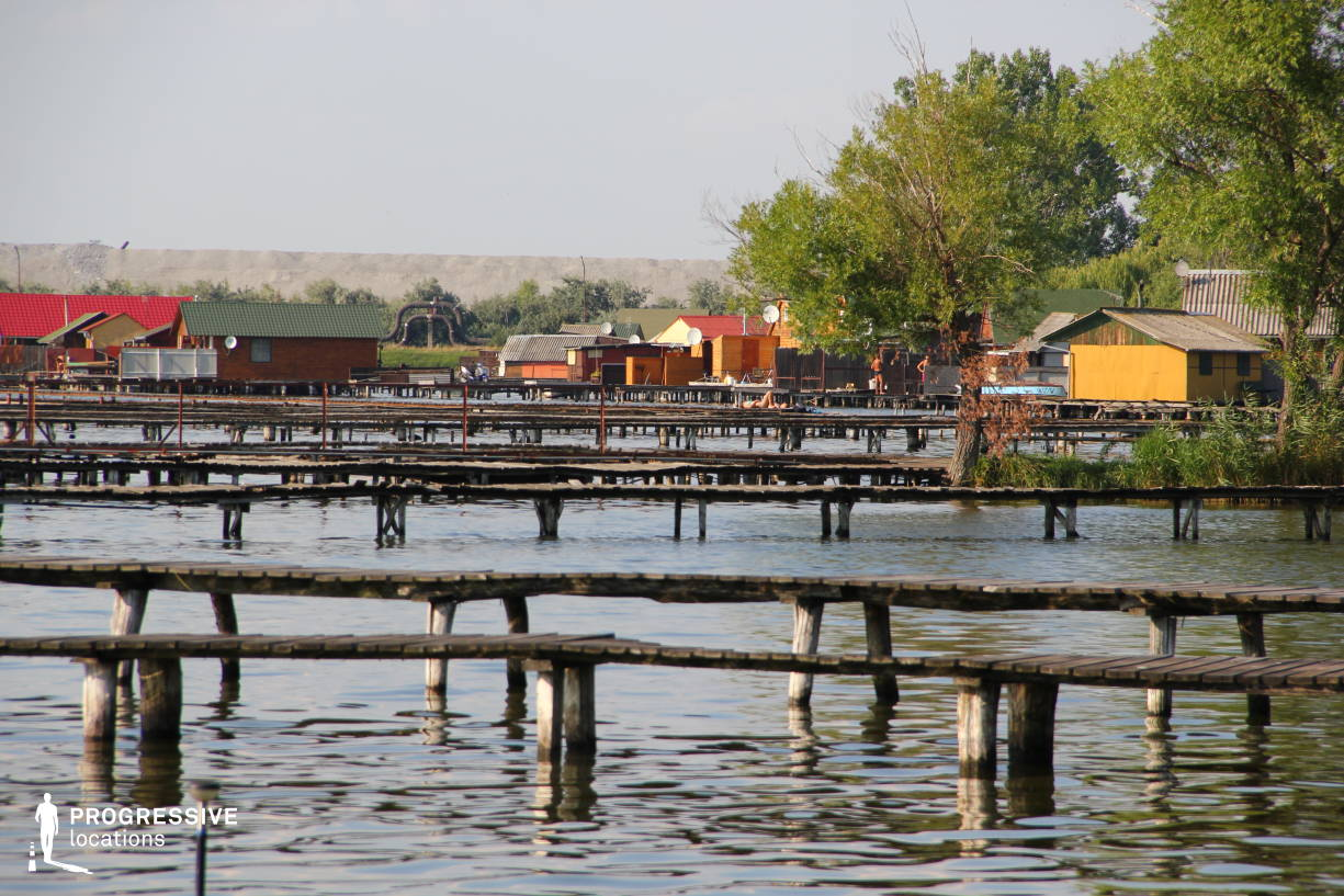 Locations in Hungary: Pier, Lake Bokod (Side View)