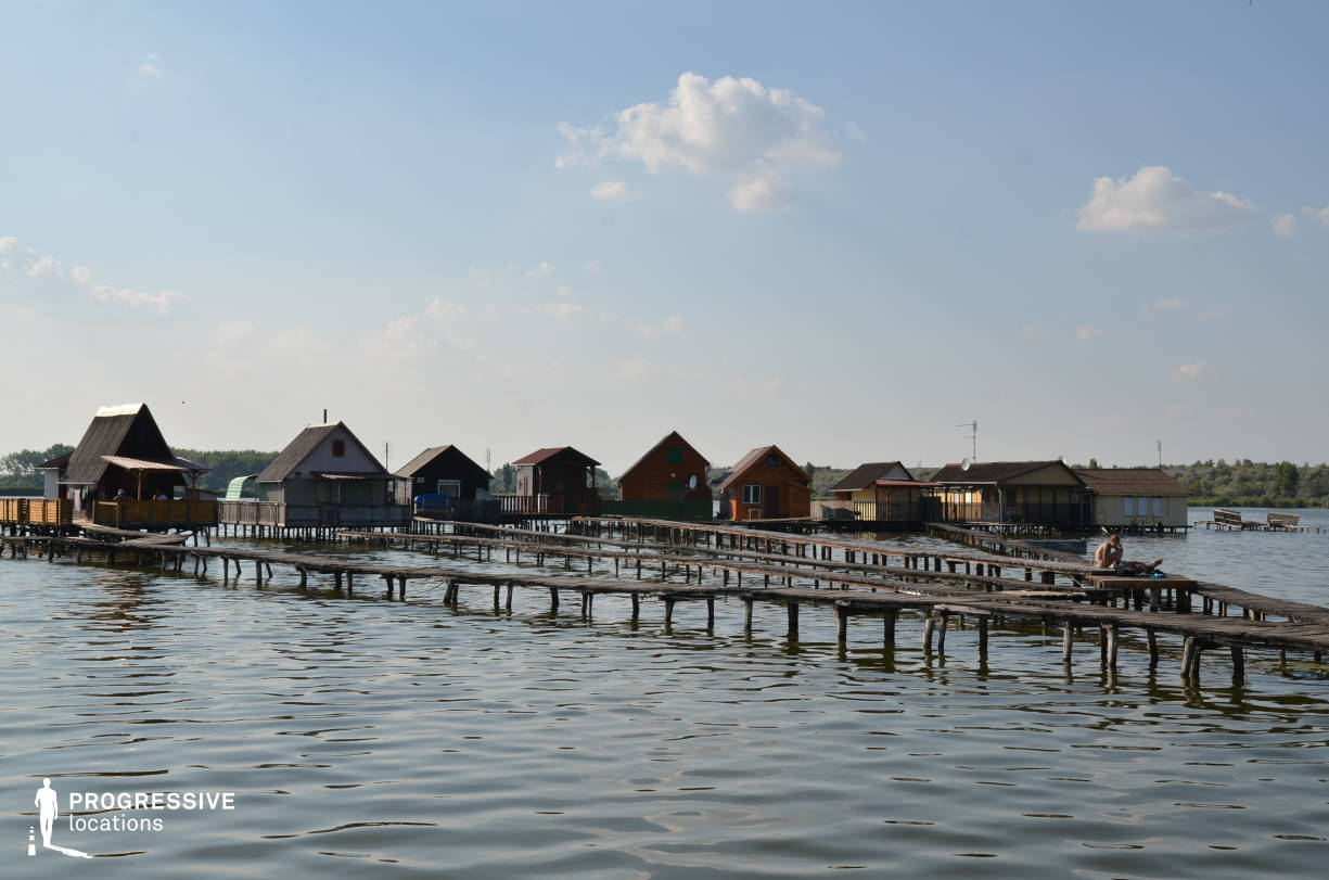 Locations in Hungary: Small Wooden Houses, Lake Bokod