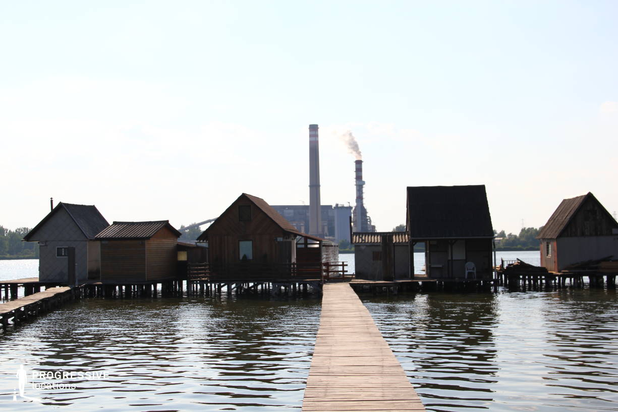 Locations in Hungary: Wooden Huts %26 Power Plant, Lake Bokod