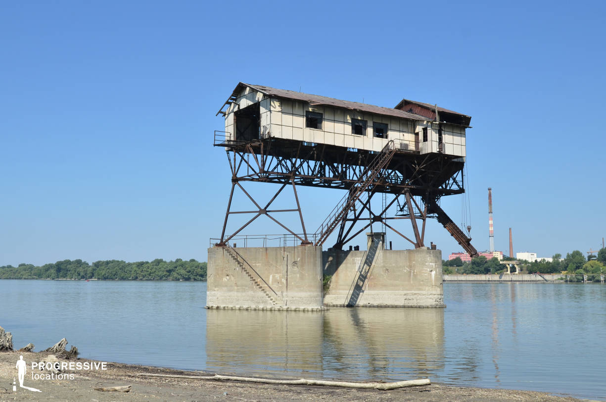 Locations in Hungary: Coal Loading Station, River Danube (Abandoned Industrial Structre)