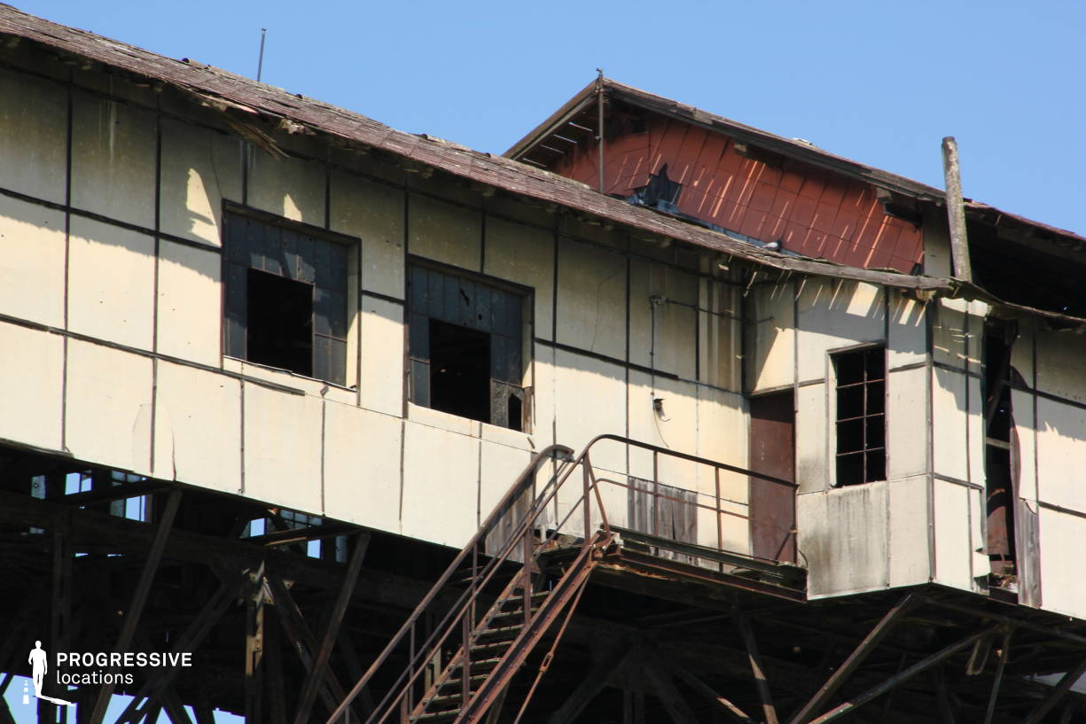 Locations in Hungary: Coal Loading Station, River Danube (Detail)