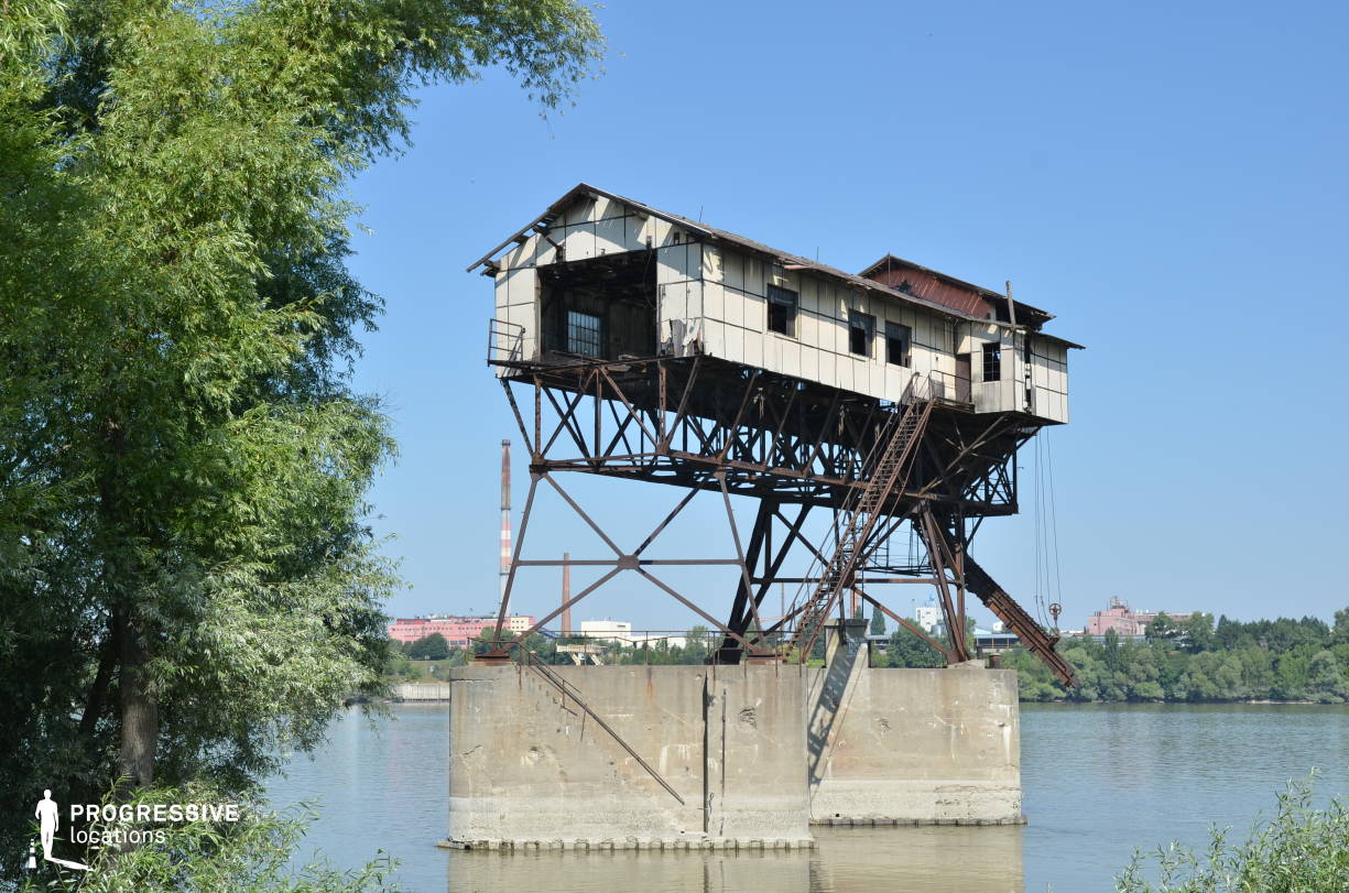 Locations in Hungary: Metal Construction %26 Concrete Pillars, Coal Loading Station, River Danube