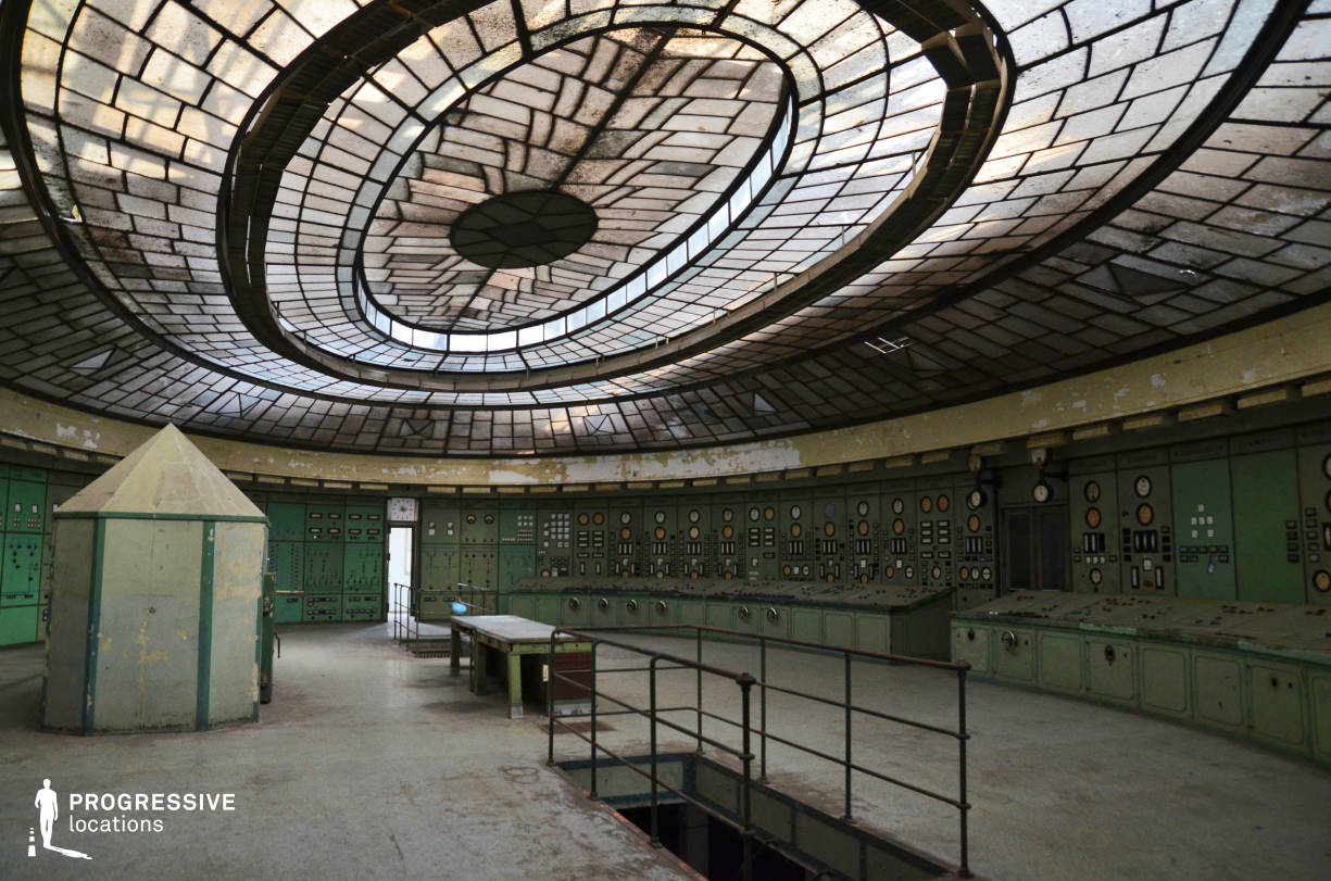 Locations in Hungary: Art Deco Control Room, Power Plant, Kelenfold
