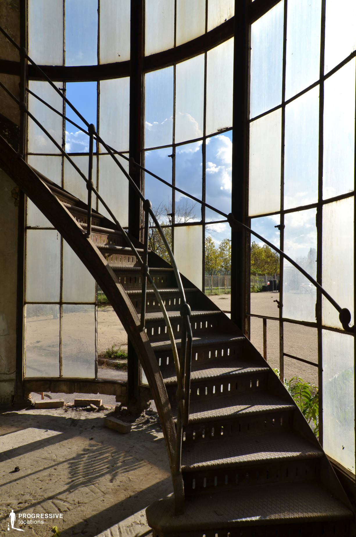 Locations in Hungary: Shabby Iron Staircase, Power Plant, Kelenfold