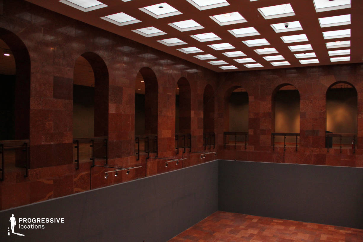 Locations in Hungary: Arcade, Gallery Space, Red Marble Hall
