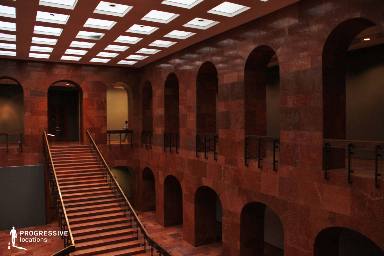 Locations in Hungary: Hall %26 Staircase, Red Marble Hall (Side View)