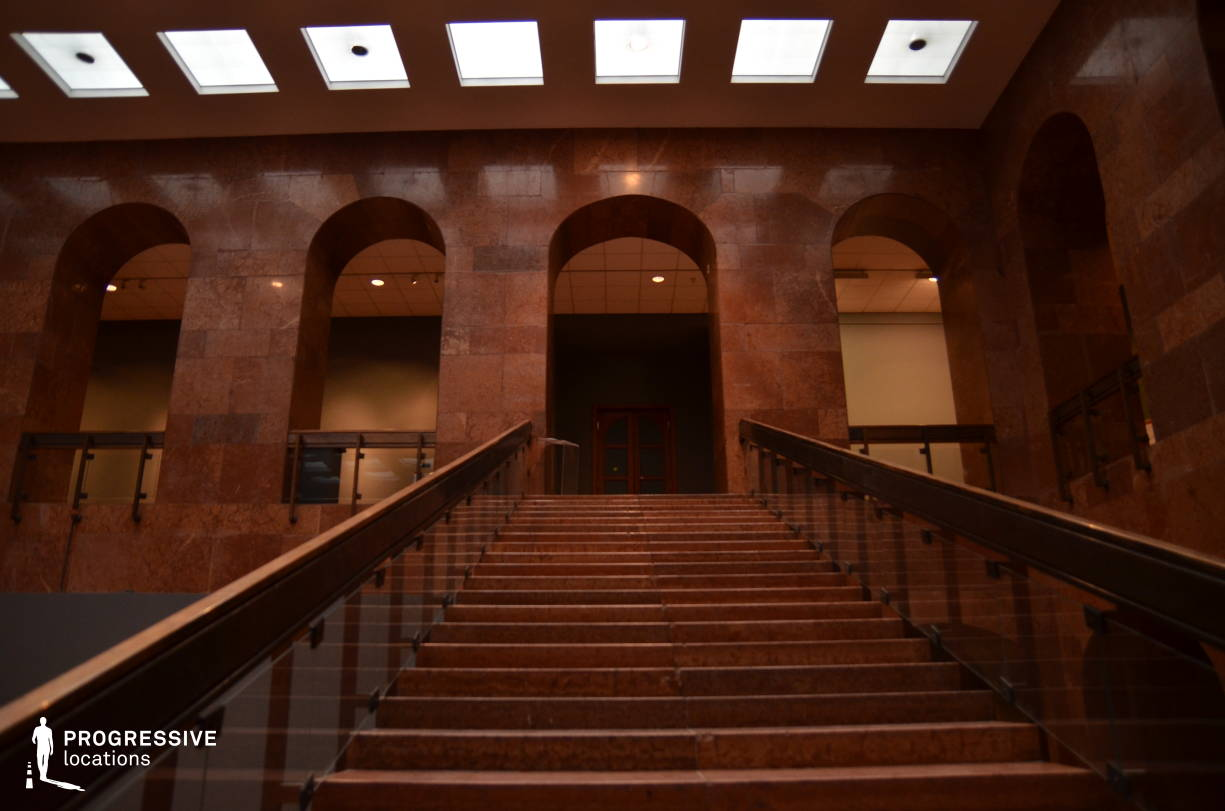 Locations in Hungary: Marble Staircase, Red Marble Hall
