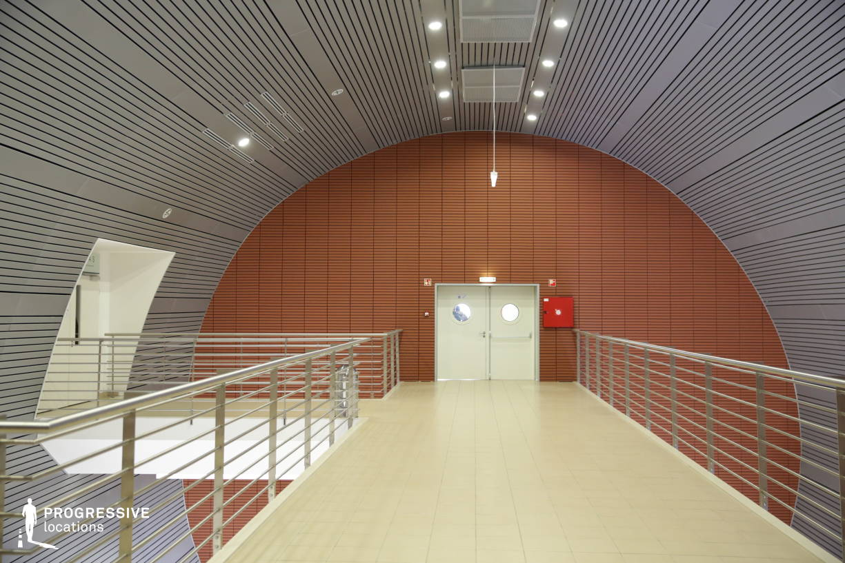 Locations in Hungary: Round Laboratory Corridor, Sci-Fi Corridor