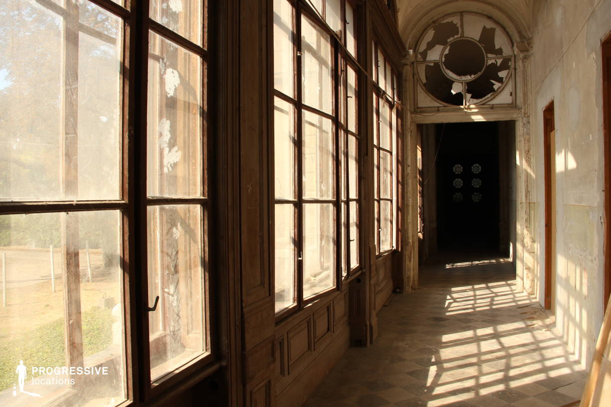 Locations in Hungary: Loggia %26 Windows, Tura Castle (Detail)