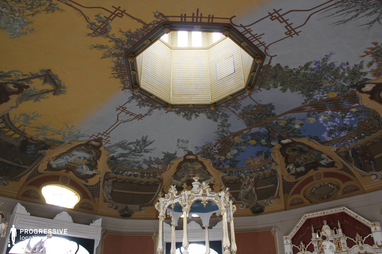 Locations in Hungary: Fresco %26 Ceiling, Vintage Carousel