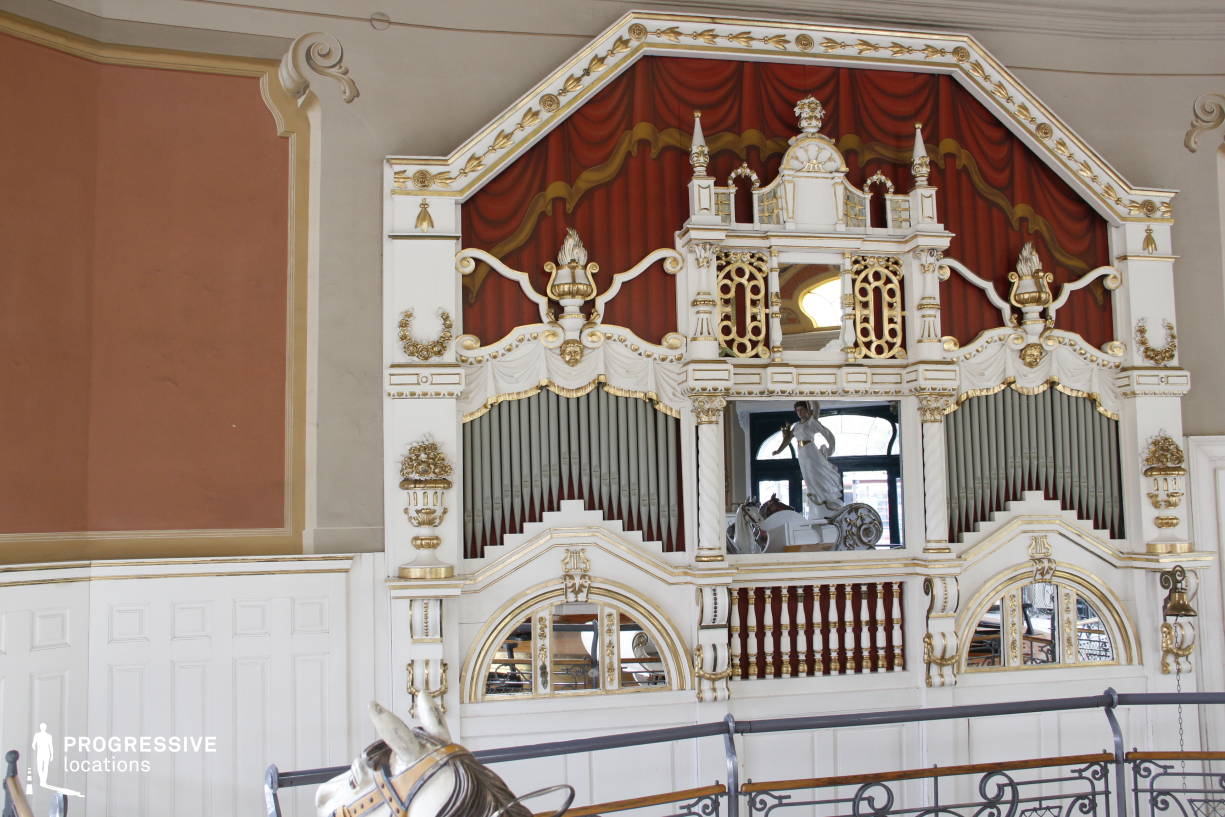 Locations in Hungary: Organ, Vintage Carousel (Detail)