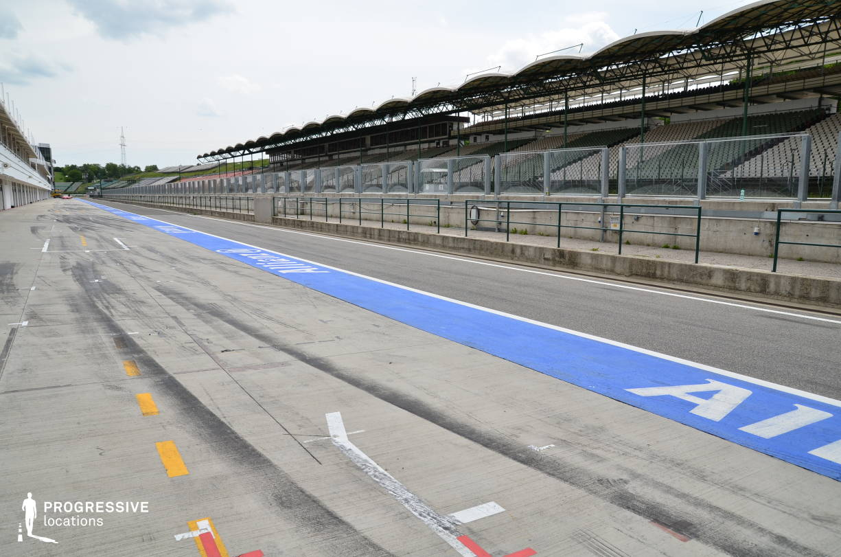 Locations in Hungary: Pit Lane, Hungaroring