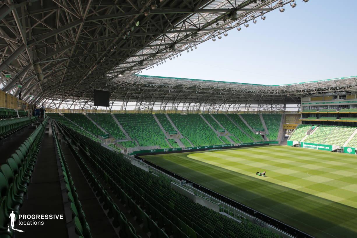 Locations in Hungary: Tribune, Fradi Stadium (Looking Left)