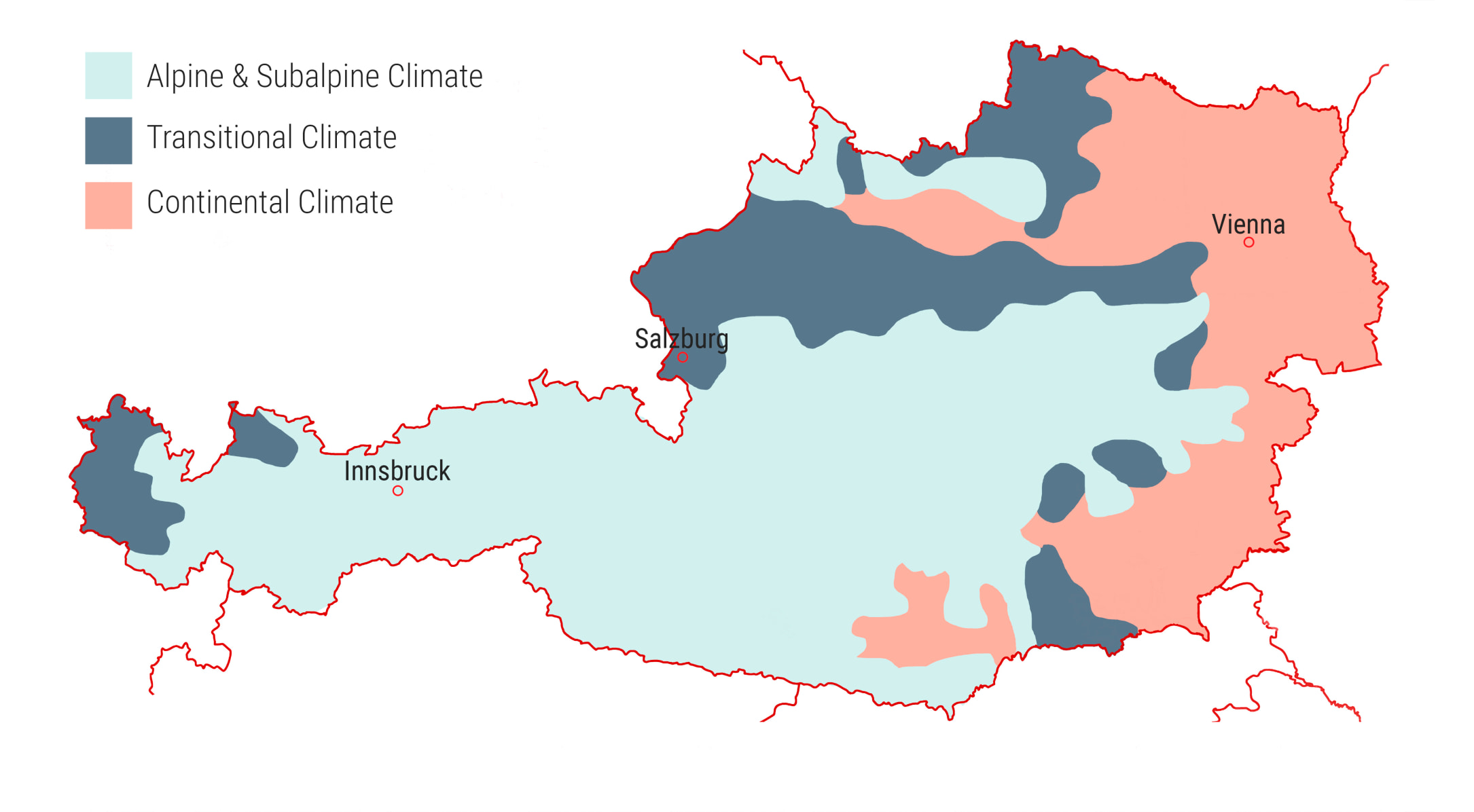 Climate Geography Of Austria From Film Production Aspects - Austria climate map