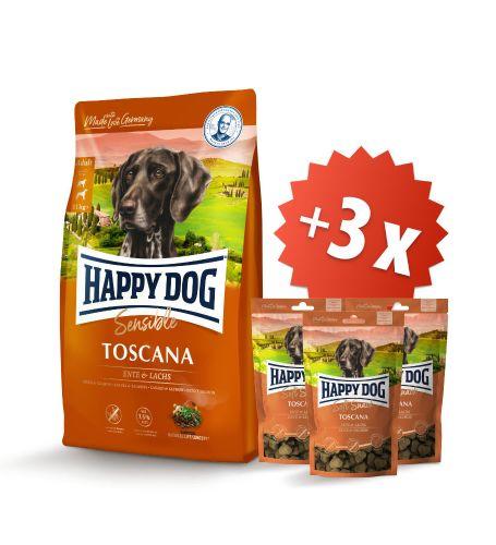 AKCIA Toscana 12,5 kg + 3 x Soft Snack Toscana 100 g