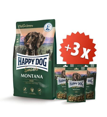 AKCE Montana 10 kg + 3 x Soft Snack Montana 100 g