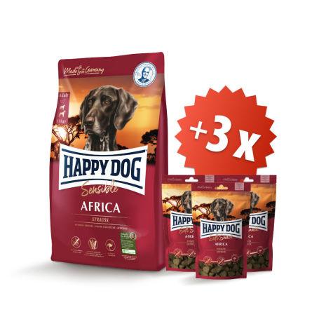 AKCE Africa 12,5 kg + 3 x Soft Snack Africa 100 g