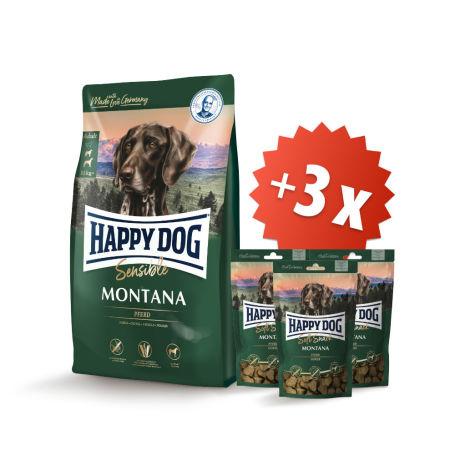 AKCIA Montana 10 kg + 3 x Soft Snack Montana 100 g