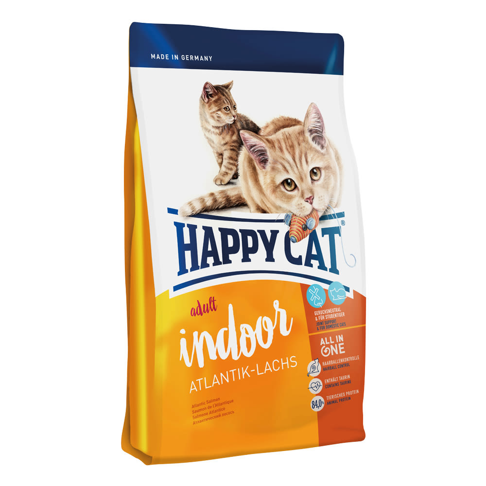 Happy Cat Indoor Atlantik-Lachs / Losos 10 kg