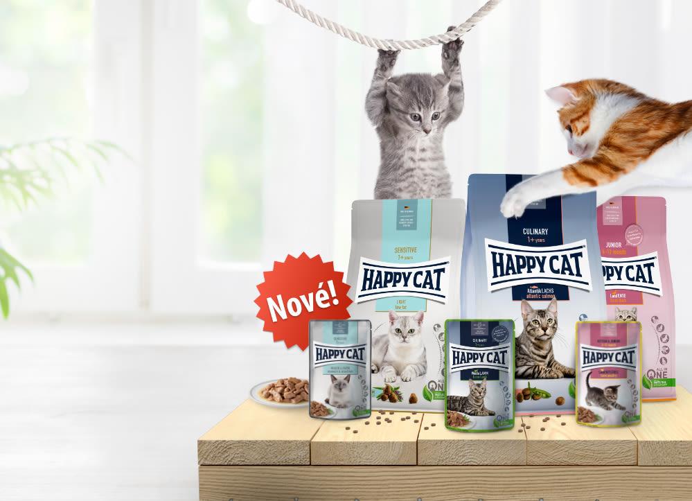 Představujeme nová krmiva Happy Cat!