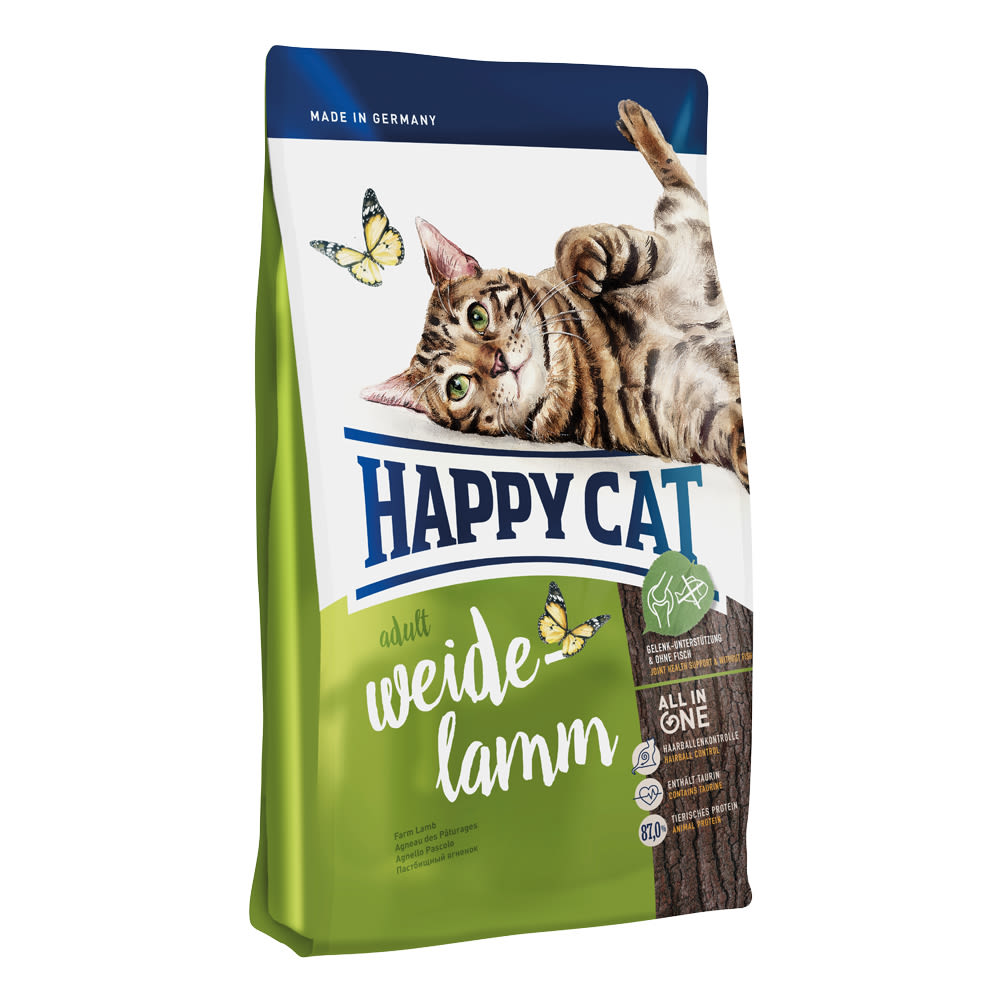 Happy Cat Adult Weide-Lamm / Jehněčí 4 kg
