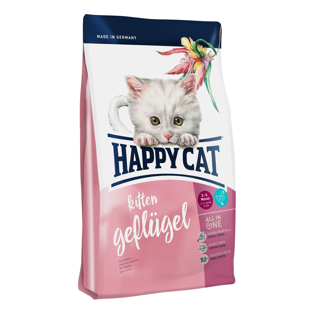 Happy Cat Kitten Geflügel / Drůbež 300 g