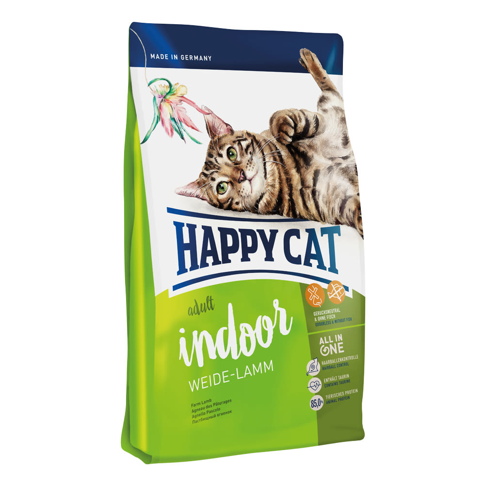 Happy Cat Indoor Weide-Lamm / Jehněčí 10 kg
