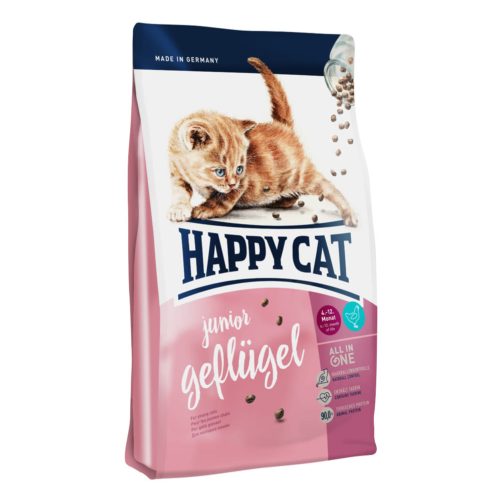 Happy Cat Junior Geflügel / Drůbež 4 kg