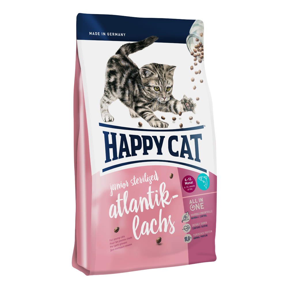 Happy Cat Junior Sterilised Atlantik-Lachs / Losos 10 kg