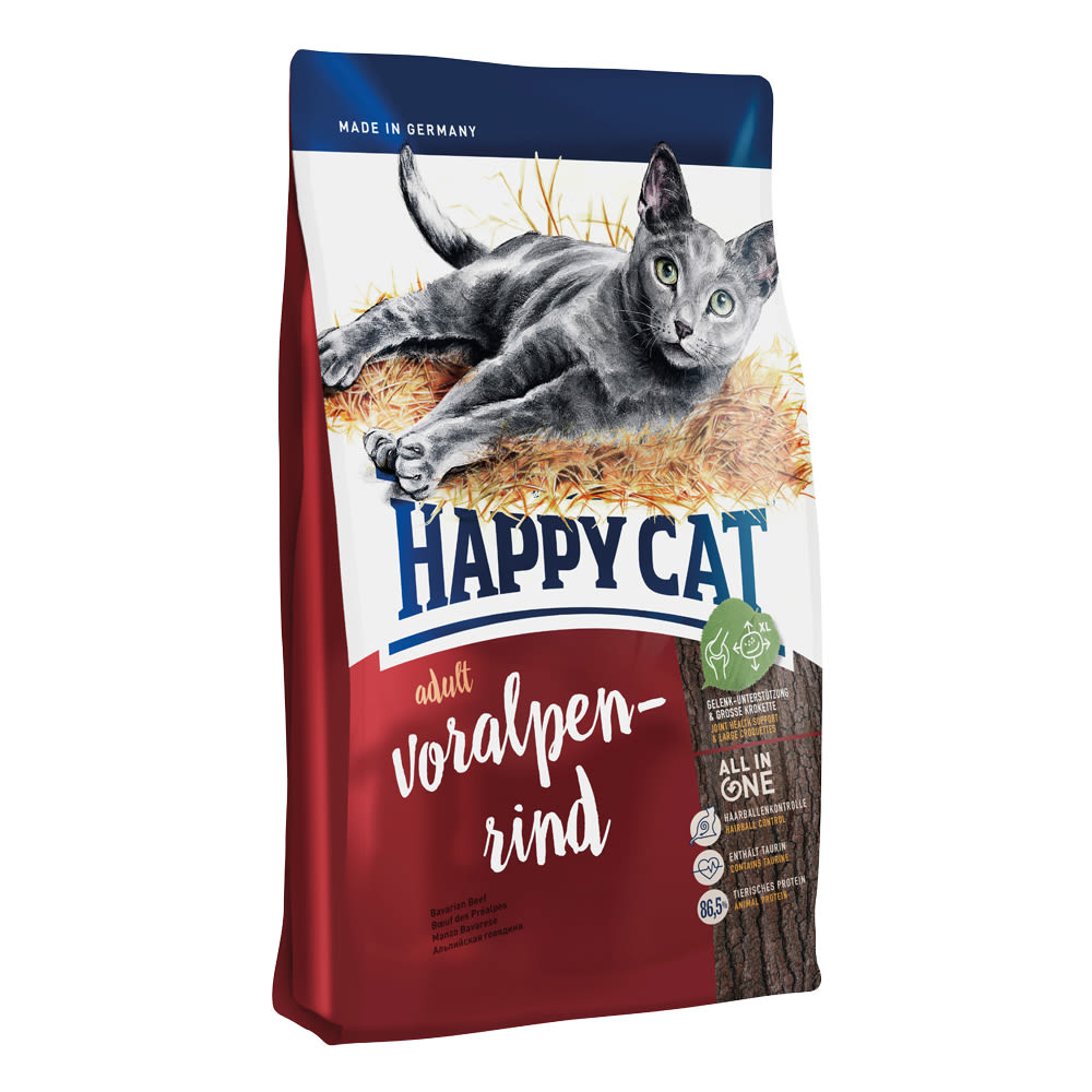 Happy Cat Adult Voralpen-Rind / Hovězí 10 kg