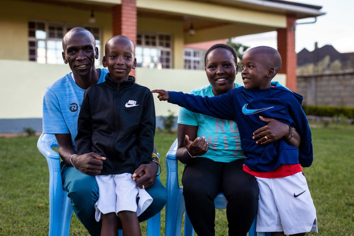 Image result for eliud kipchoge and his wife