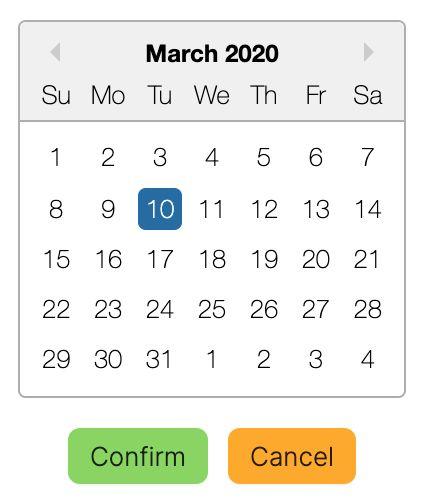 Order scheduling screenshot