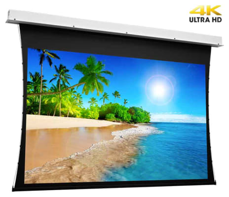Projecta Tensioned Descender Electrol 102 X 180 cm (16:9) Complete Screen with UHD 4K Fabric 0.9 Gain and RF remote control (Projecta 10103749)