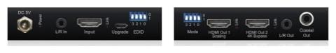 Blustream HDMI 4K HDCP 2.2 compliant splitter with in-built down-scaler (SC12SP-V2)